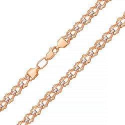 Золотая цепочка в комбинированном цвете фантазийного плетения 000134067
