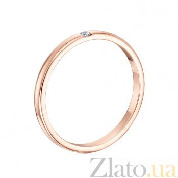 Обручальное кольцо со вставкой Дианта 10102