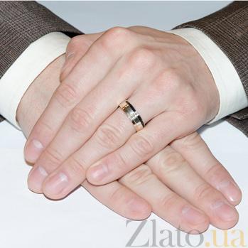 Серебряное кольцо с золотом и фианитами Верность BGS--699/1к
