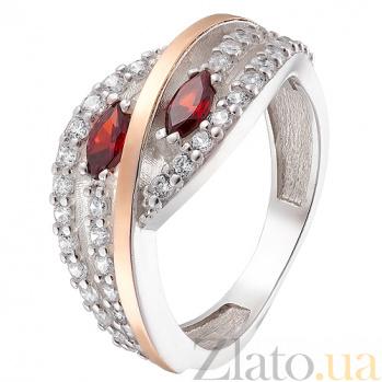 Серебряное кольцо с золотой вставкой Соблазн Соблазн к