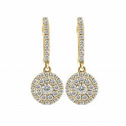 Серьги из желтого золота Пинейра с бриллиантами