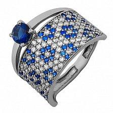 Серебряное кольцо Дарс синий