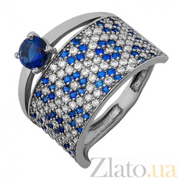 Серебряное кольцо Дарс синий 162477