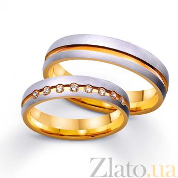 Золотое обручальное кольцо Париж TRF--431234