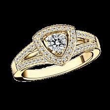 Кольцо в лимонном золоте с микро-паве Dream n Love