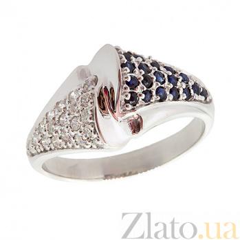 Серебряное кольцо с бриллиантами и сапфирами Филомена ZMX--RDS-6450-Ag_K