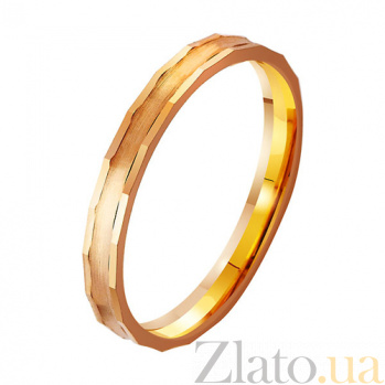 Золотое обручальное кольцо Блистательное начало TRF--411777