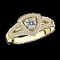Кольцо в лимонном золоте с микро-паве Dream & Love R-BDL-E-diam-diam