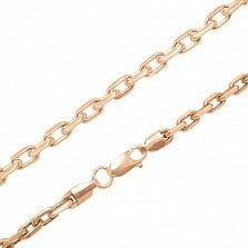 Серебряная цепочка Имидж в позолоте с алмазной гранью, 3мм