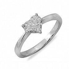 Кольцо Наша история из белого золота с бриллиантами