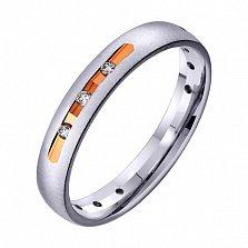 Золотое обручальное кольцо с фианитами Больше, чем любовь