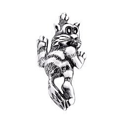 Серебряный кулон Кот проказник