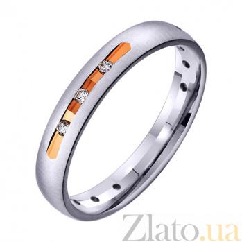 Золотое обручальное кольцо с фианитами Больше, чем любовь TRF--412957