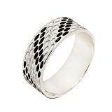 Серебряное кольцо с эмалью Риф