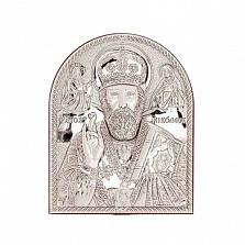Николай Чудотворец икона серебряная