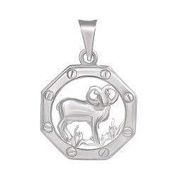 Серебряная подвеска Знак Зодиака Овен 000039648