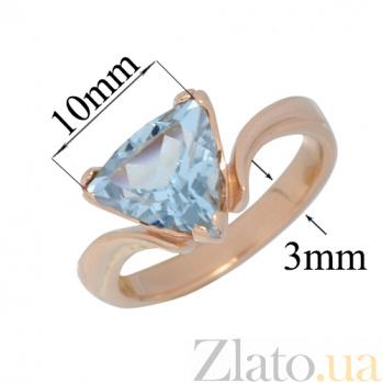 Золотое кольцо с топазом Киселин PTL--1к015/27