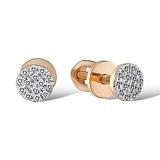 Серьги из красного золота Ника с бриллиантами
