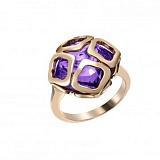Кольцо из розового золота с аметистом Imperiale, большая модель
