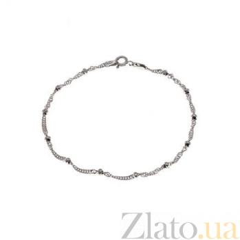 Браслет серебряный декоративный AQA--193Р/2