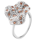 Кольцо в белом золоте Аурелия с фианитами