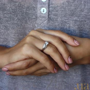 Серебряное кольцо с фианитами HUF--14566-Р