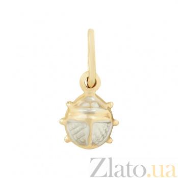 Золотой подвес Жучок 2П220-0089