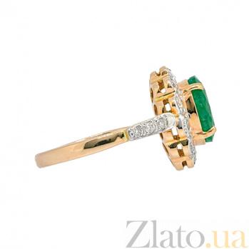 Золотое кольцо в красном цвете с изумрудом и бриллиантами Даниэла ZMX--RE-6281_K
