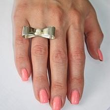 Серебряное кольцо с жемчугом Бродвейский шик