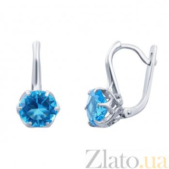 Серебряные серьги Каролина AQA--72757г