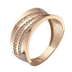 Кольцо в красном золоте Альбина с фианитами