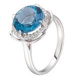 Золотое кольцо Мадлен с топазом и бриллиантами