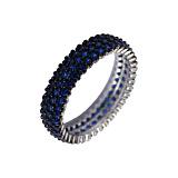 Серебряное кольцо Альтависта с синими фианитами
