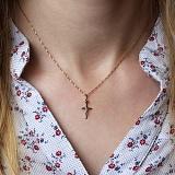 Золотой крестик в комбинированном цвете Защитник