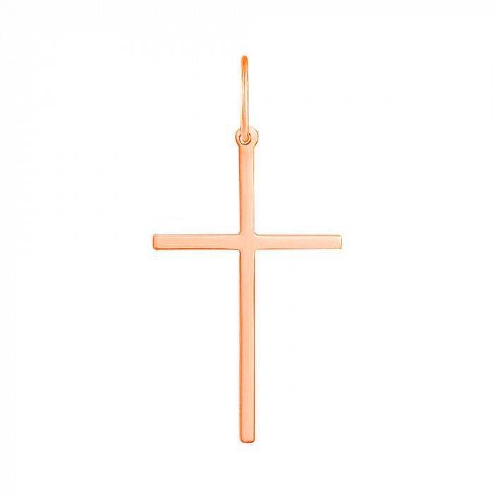 Крестик в красном золоте Смиренная молитва 000126423