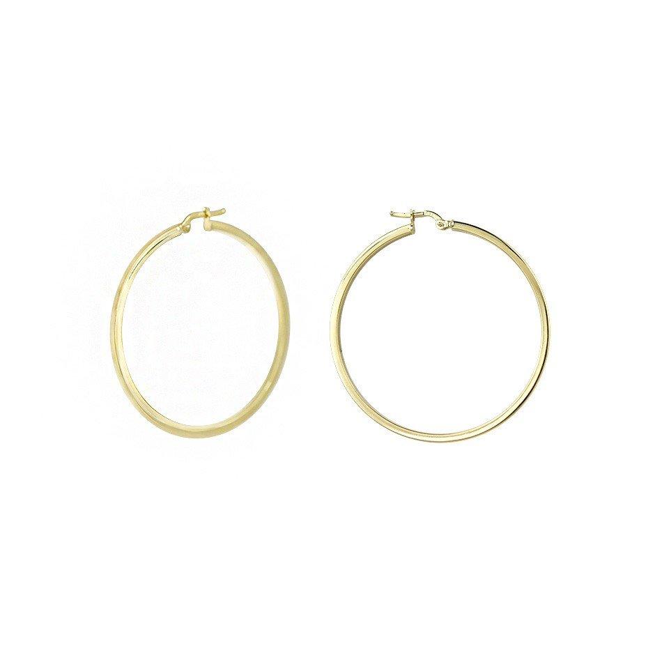 Золотые серьги-кольца Сарьми в желтом цвете