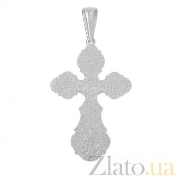 Серебряный крест Ангел-хранитель PTL--7п376/00