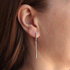 Серебряные серьги-подвески Геометрическая простота