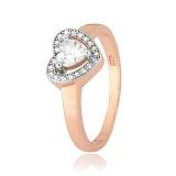 Кольцо из серебра с цирконием Свет любви