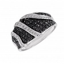 Кольцо Сумерки из белого золота с бриллиантами