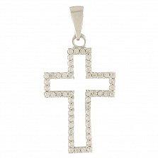 Серебряный крестик Элоиза с фианитами