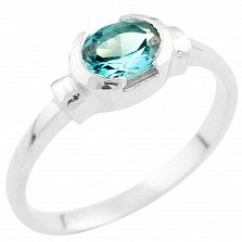 Серебряное кольцо Орнелла с синтезированным топазом лондон