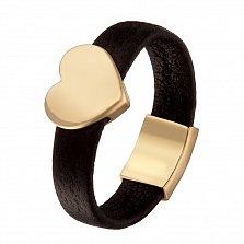 Кольцо из кожи и желтого золота Любовь к моде