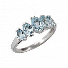 Серебряное кольцо Нора с аквамарином