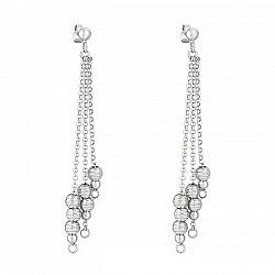 Серебряные серьги-подвески 000025944