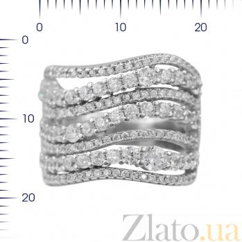 Серебряное кольцо Генриетта с кристаллами циркония 000081610
