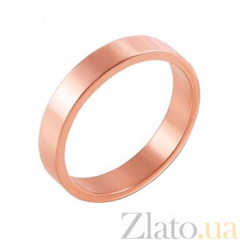 Обручальное кольцо Модная классика в красном золоте 000000366