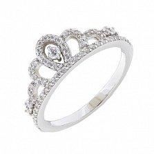 Серебряное кольцо Ливания с фианитами
