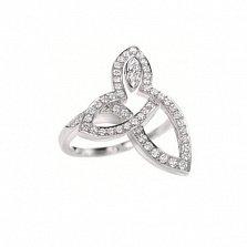 Кольцо золотое Лили Кластер