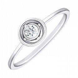 Серебряное кольцо с кристаллом Swarovski 000137899